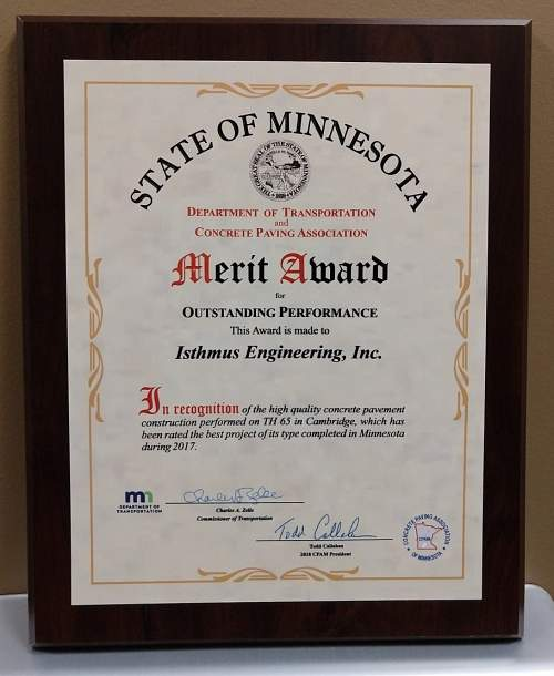 Isthmus Receives Merit Award at CPAM Annual Banquet